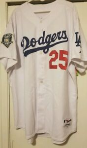 premium selection ea650 13b51 Details about Authentic Los Angeles Dodgers jersey / Majestic / size 56 /  Andruw Jones w/ 50th