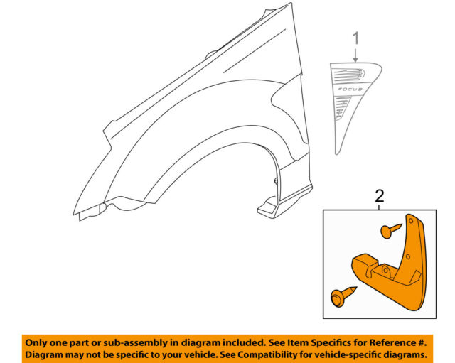 Genuine Ford 8S4Z-16A550-AA Molded Splash Guard