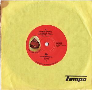 LEON-RUSSELL-A-HARD-RAIN-039-S-A-GONNA-FALL-Very-rare-1970-Aussie-Single-Release
