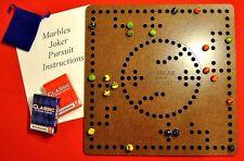 Marbles Pursuit Joker Board Game 4 & 2 player, Felt Backing, Laser Engraved