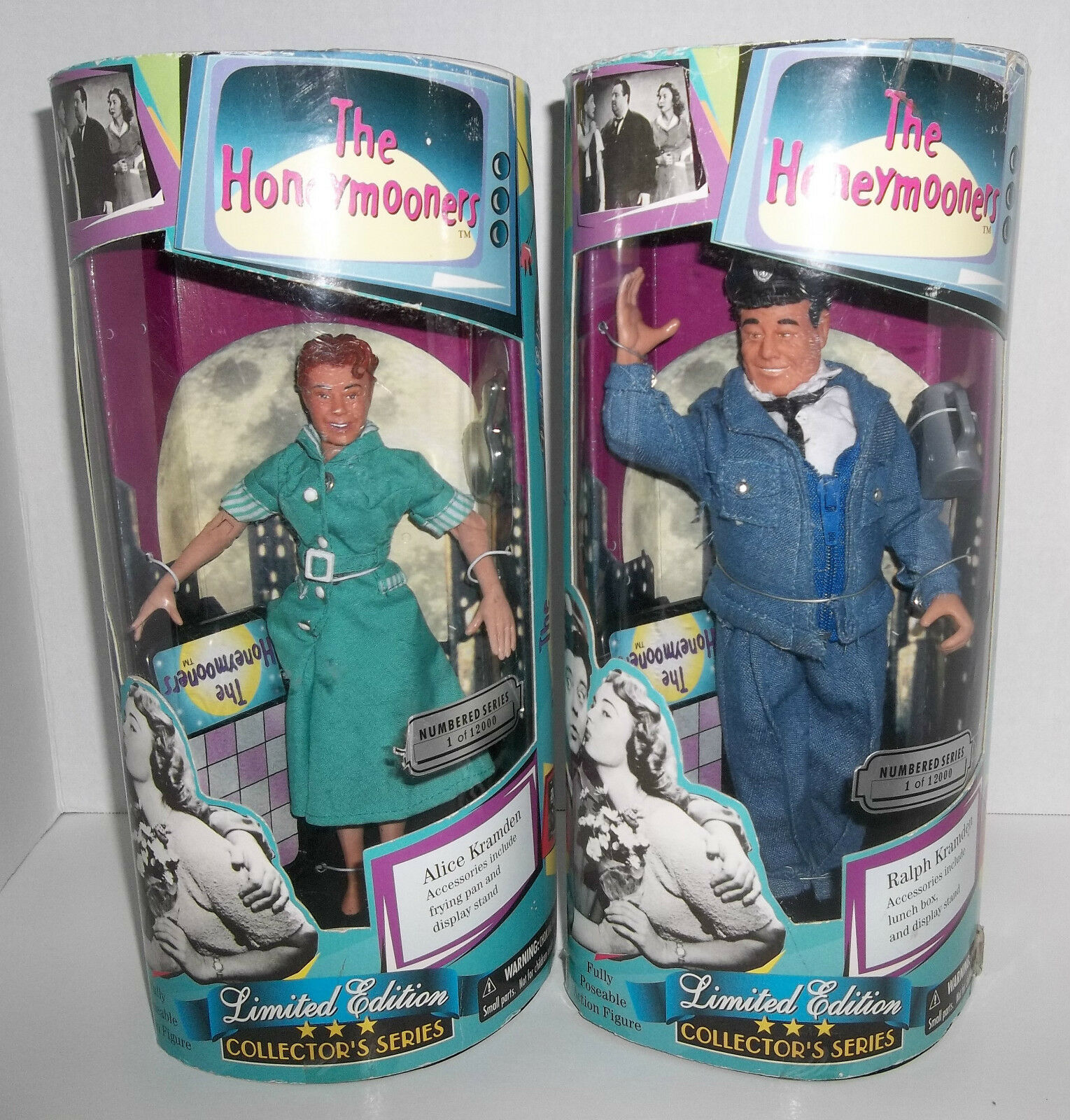 Exclusive Premiere The Honey Mooners Alice & Ralph Kramden Figure Dolls - NEW