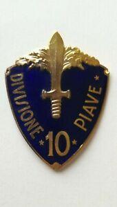 Scudetto da braccio 10° Divisione Piave da ufficiali Smaltato Regio Esercito