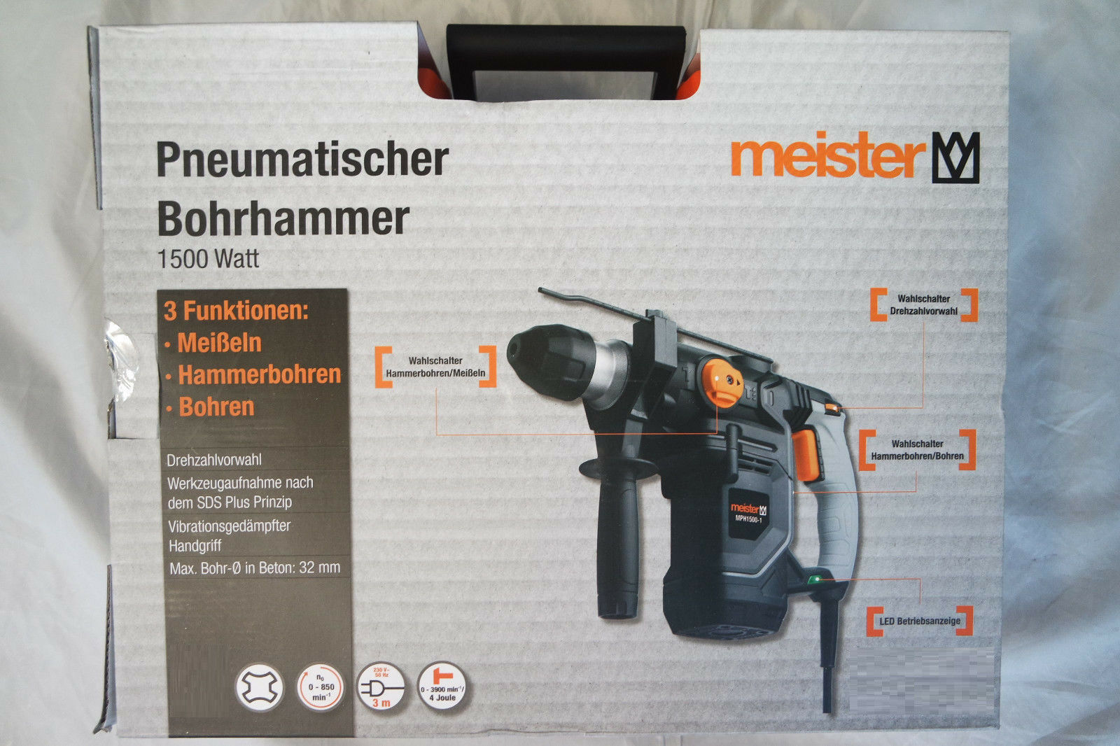 Meister Bohrhammer MPH 1500-1 1500 W  pneumatisch