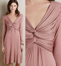ANTHROPOLOGIE Bailey 44 NWT Gathered Jersey Dress Pink Dusty Rose Sz SP $168