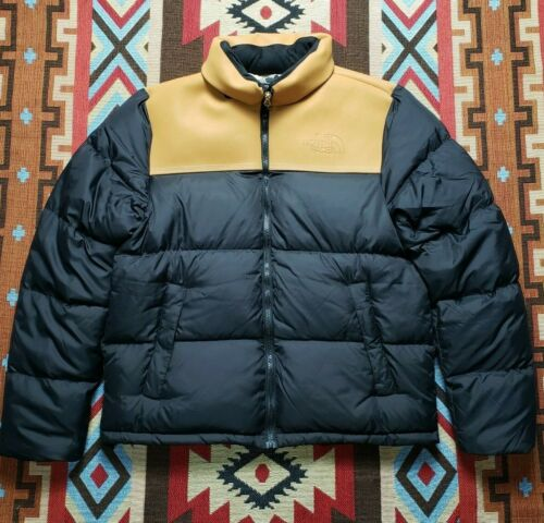 TIMBERLAND X THE NORTH FACE NUPTSE LEATHER PUFFER