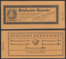 Bund MH 4 Y I  RLV I ** Heuss und Ziffern 1960  postfrisch minimaler Aufklappbug