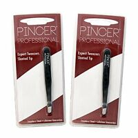 Tweezer Set Slant Tip Eyebrow Kit Back Hair Removal Tool Fishing Instrument Gift