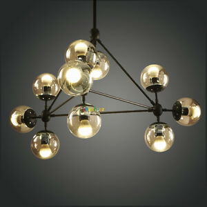 10 Lights Modern Round Glass Chandelier Fixture Pendant