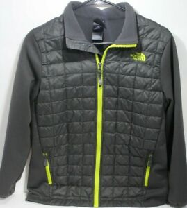 THE-NORTH-FACE-Thermoball-Jacket-Boys-L-G-14-16-Youth-Gray-Coat-Jacket-Ski-Snow