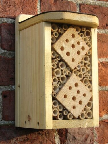 Handmade wooden Bug Hotel ladybirds bees lacewings