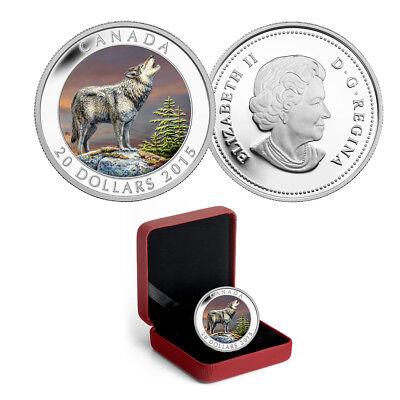 OGP//COA FINE .9999 SILVER COIN 2015 $100 CANADA Horse