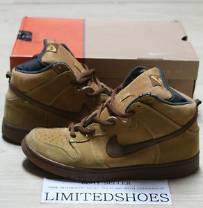 8b1486fe NIKE DUNK HIGH PRO SB WHEAT HI MAPLE BROWN BISON 305050-221 US 11 ...