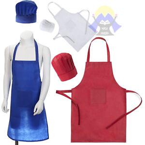 Grembiule Da Cucina Per Bambini Fai Da Te.Grembiule Da Cucina Per Bambino Con Cappello Cuoco Chef Tasca Set