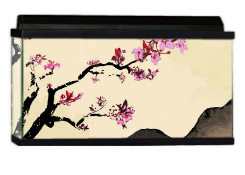 Asian Cherry Design by DeepBlueThemes /& Mounting Solution Aquarium Background