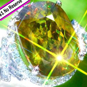 Sphene-Ring-14K-GOLD-20-45ct-Diamond-ESTATE-Cocktail-Vintage-Titanite-Ring-NR