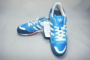 Da-Uomo-Blu-Rosso-Bianco-Adidas-ZX750-Scarpe-Da-Ginnastica-in-Pelle-Scamosciata-Scarpe-Da-Corsa-UK