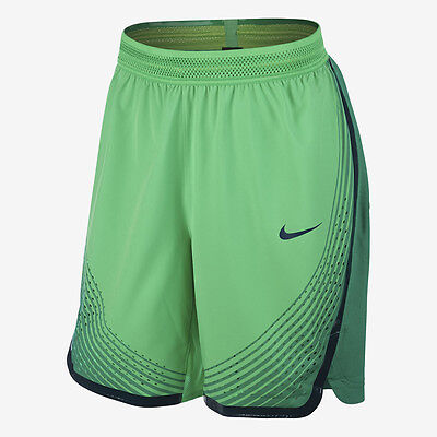 Mens Nike Vapor Knit Basketball Shorts 925795-355 Sequoia//Black NEW Size M