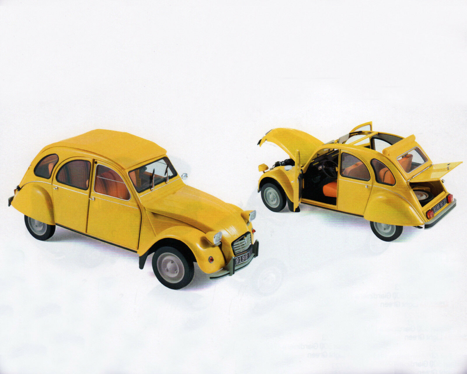 CITROEN 2cv 6 Club, giallo, 1 18, NOREV