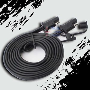 12ft-Battery-Quick-Disconnect-Connect-2-Pin-SAE-Waterproof-Wire-Harness-Tender