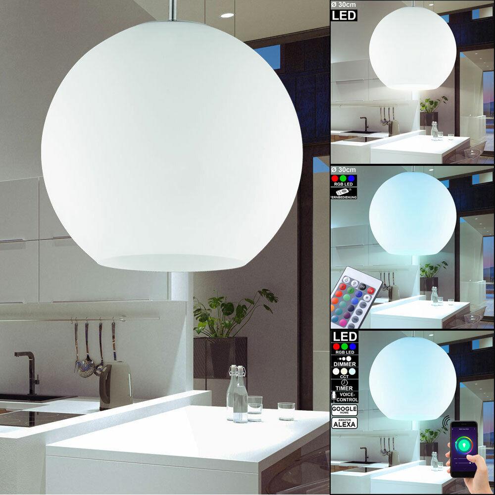 Smart Home LED Pendel Dimmer Hänge Lampe Kugel RGB Decken Leuchte Fernbedienung