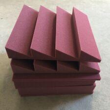 8 PCS Acoustic Burgundy Wedge with 4T Soundproof Foam 30*30cm Acoustic Sponge