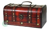 Vintiquewise(tm) Decorative Treasure Box - Wooden Trunk Chest, New, Free Shippin