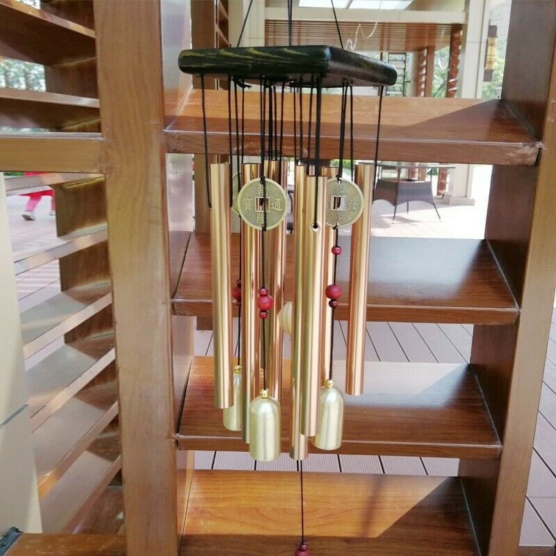 Large Metal Tubes Windchime Chapel Bells Wind Chimes Outdoor Garden Home Decor