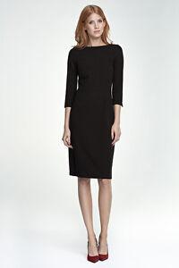 1b40c922846 Robe noire ajustée élégante femme de soirée habillé midi NIFE S80 36 ...