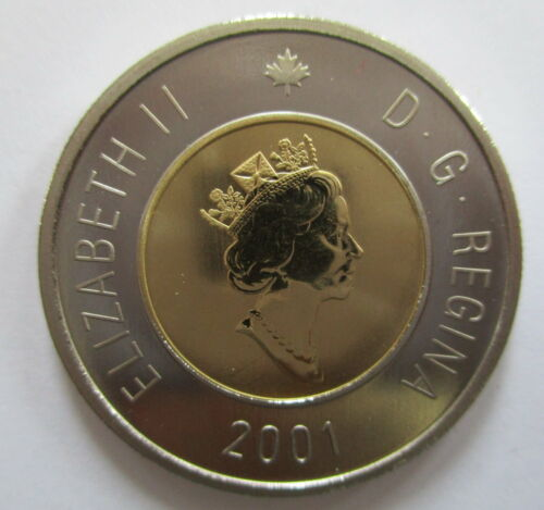 2001 CANADA $2 DOLLAR SPECIMEN TOONIE COIN