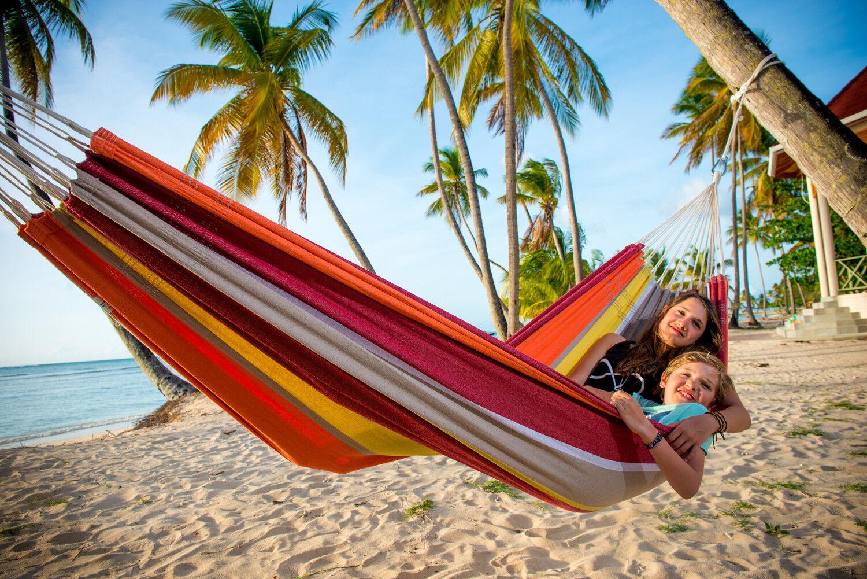 Amazonas Doppel-Hängematte Hängematten Barbados  acerola  Tuchhängematte