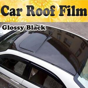 Gloss Roof Black Out Vinyl Car Wrap Film Sticker Decal