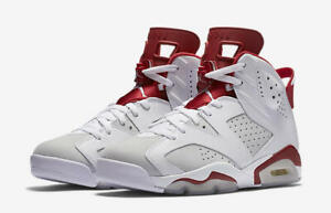 Nike-Air-Jordan-6-Retro-Alternate-Size-9-5-18-White-Gym-Red-Platinum-384664-113