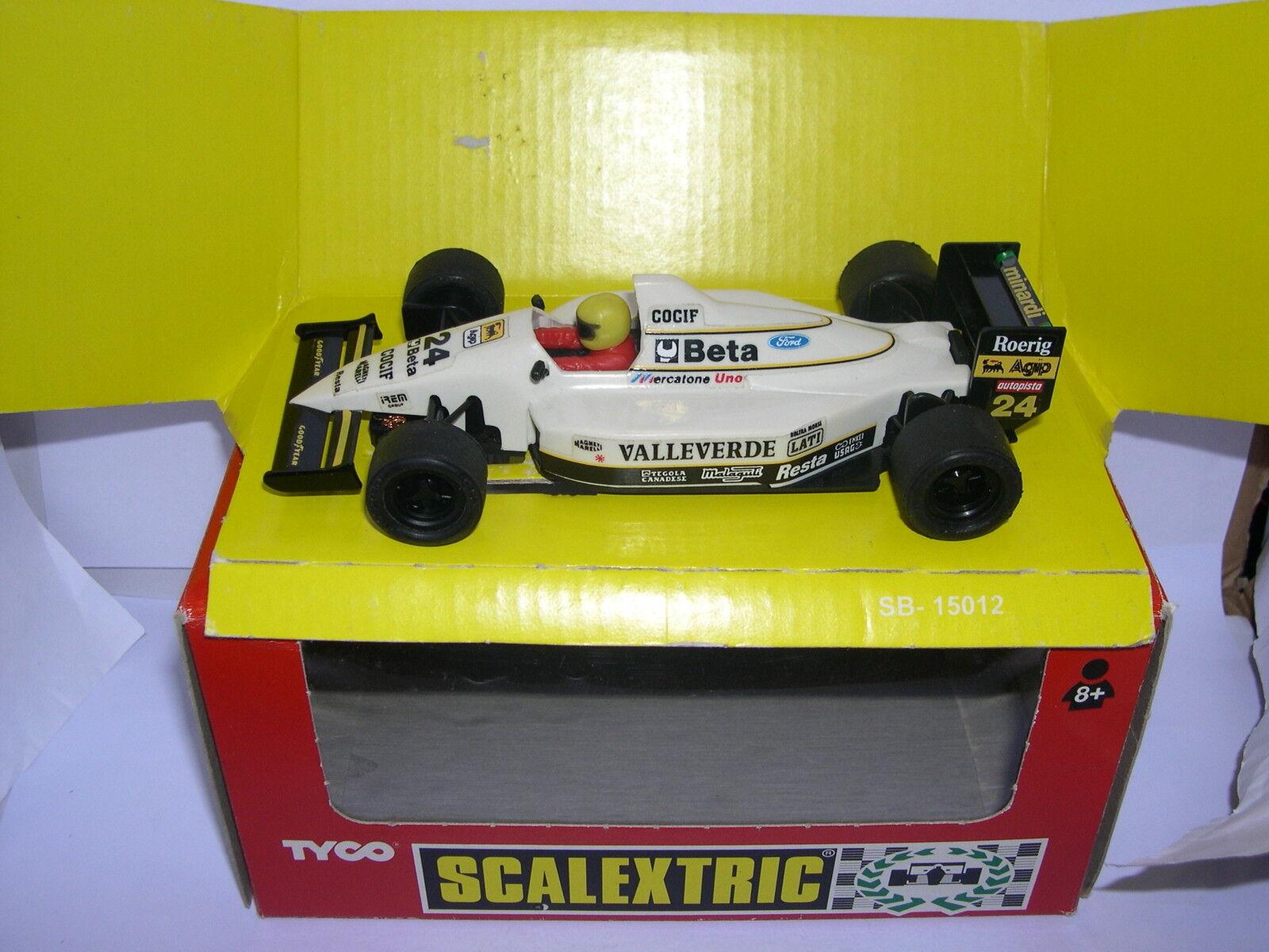 SCALEXTRIC SCX TYCO 8374.09 MINARDI F1 VALLEgreen MB