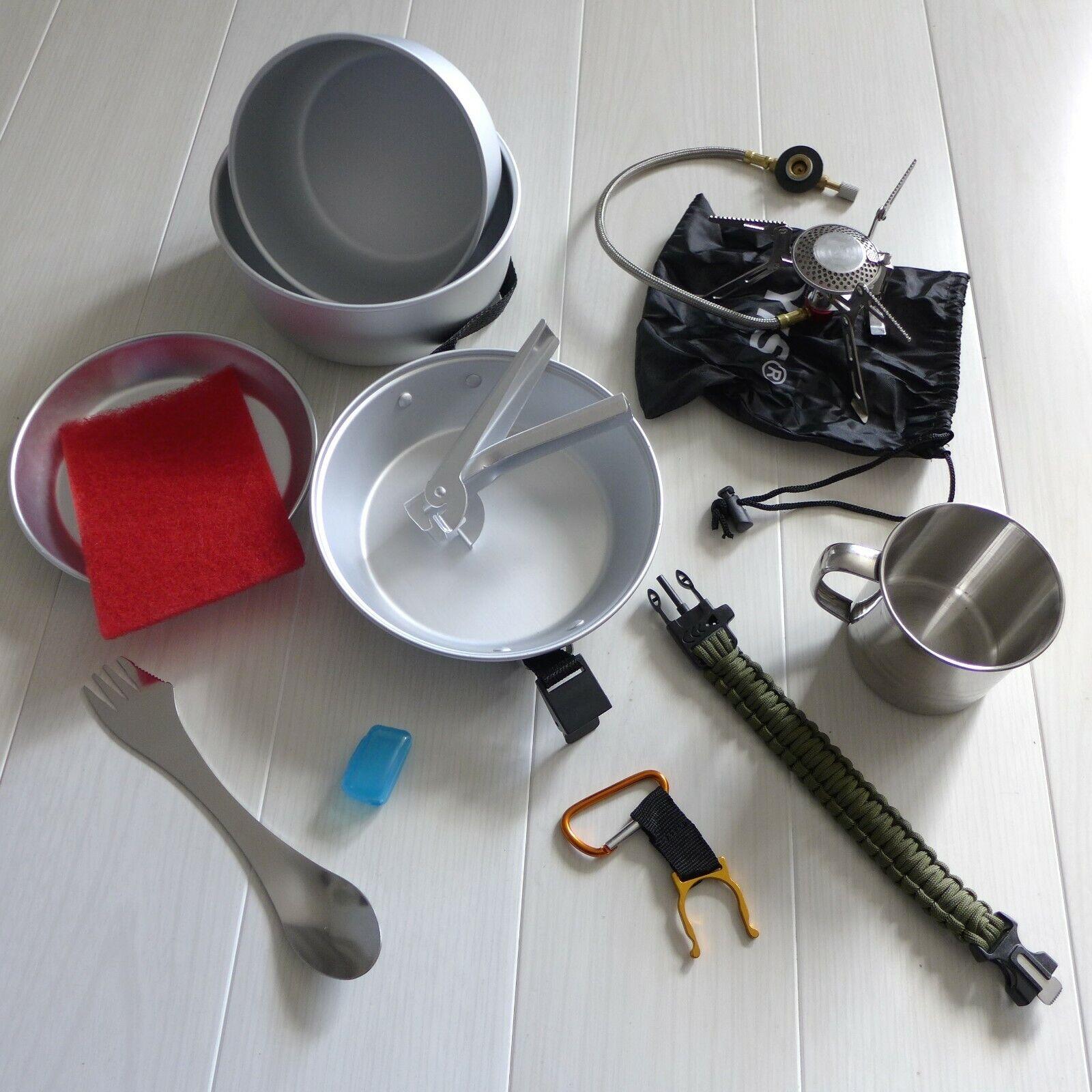 DofE Lightweight Camping Stove, Lightweight Cooking Set, SS Spork, Ali Pot Set +