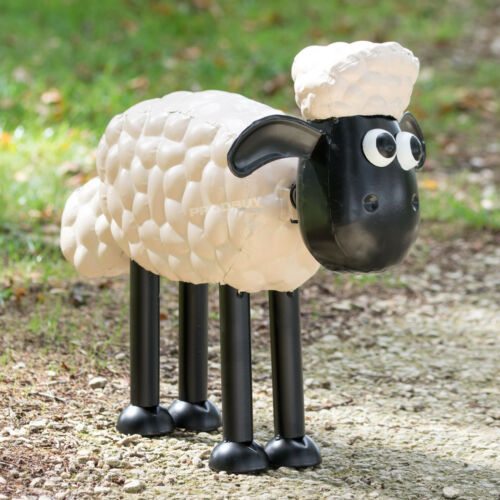 Large 45cm Shaun The Sheep Metal Garden Art Lawn Ornament Decorative Sculpture