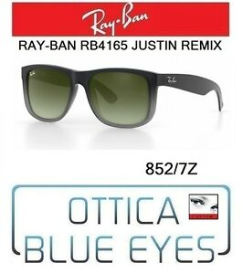 Occhiali-da-sole-RAYBAN-JUSTIN-REMIX-Ray-Ban-RB4165-852-7Z-sunglasses-GREY-RUB