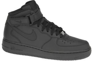 buy online ebfd1 6ee35 Nike Air Force 1 Mid GS Shoes Black High Top Trainers 314195-004 EUR ...