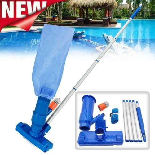 DE Pool Reinigungsset Bodensauger Auffangsack Stange Vakuum Pflege Reinigung