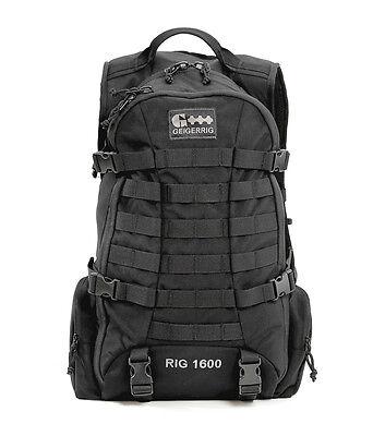 Geigerrig Tactical 1600 Hydration Pack Black W/ 100 oz Hydration Engine