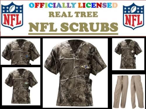 NFL REALTREE SCRUB TOP or NFL REAL TREE SCRUB PANTS-REALTREE SCRUBS-NFL REALTREE