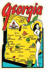 Georgia  GA  Pin-Up Girl     Vintage 1950's Style   Travel Decal Sticker
