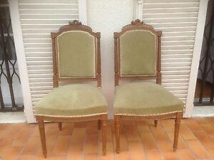 Paire de chaises anciennes style louis xvi 19 me ebay - Style chaises anciennes ...