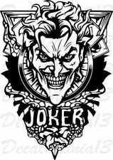 Joker Tattoo Art Dc Comics Batman Vinyl Sticker Decal Car Truck Window Wall