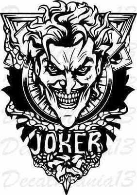Joker Tattoo Art Dc Comics Batman Vinyl Sticker Decal Car Truck Window Wall Ebay