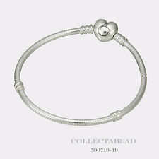 "Authentic Pandora Silver Bracelet with Pandora Heart Clasp 7.9""  590719-20"