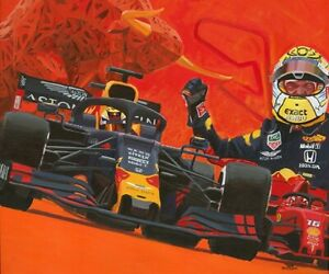 Canvas 2019 Austrian Grand Prix winner Max Verstappen (NED) Toon Nagtegaal (OE)