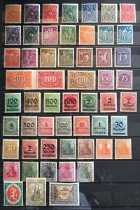 """Germany 1920s Inflation Era Collection , Lot """" 70+ """" all different Stamps   MNH"""