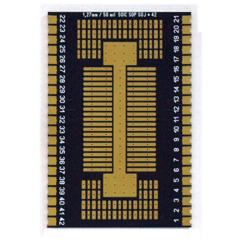 Kontaktleiste Adapter 42-polig SOIC SOP 1,27mm auf 2,54mm inkl