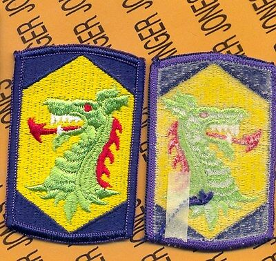 US ARMY 404th Chemical Brigade SSI shoulder patch m//e