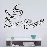 1x Wandtattoo Tasse Coffee Küche Kitchen Dekoration Wandaufkleber Wandsticker